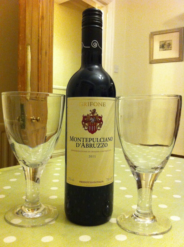 bottle of wine montepulciano