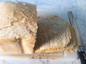 freshly sliced bread