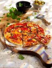 Finest* Woodfired Chicken, Mint & Coriander Pizza - tesco finest pizza