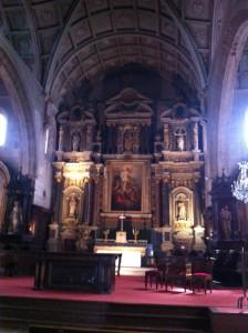 St.Gildas Church interior Auray