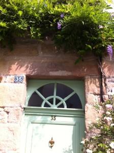pretty French doorway in Auray