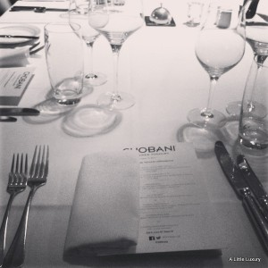 Chobani Yoghurt on the Menu