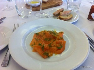 Smoked Salmon at Bank Restaurant Birmingham