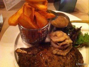 steak and chips off the bone