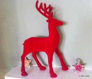 Tesco Red Flocked Reindeer