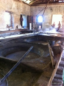 cane juice boiling house