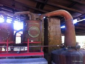 distilling the rum