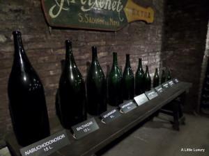 wine bottles in descending order of size