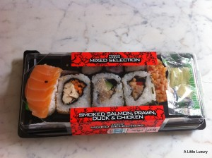 Sushi from Tesco
