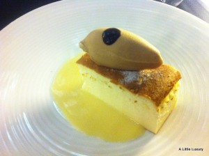 dessert at Restaurante Fonda España