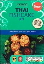 Tesco Oriental Thai Fishcake Kit