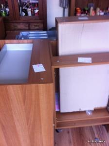 kitchen units stored while kitchen done