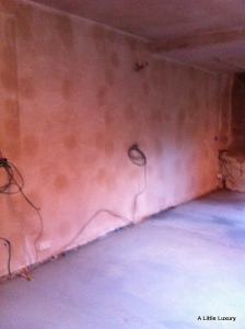 plastered kitchen