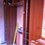fitting larder cupboards into a kitchen