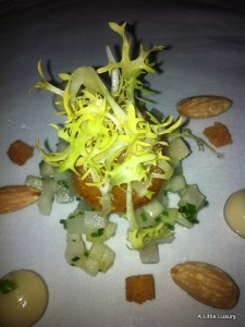 scallop with apple