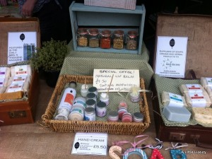 Cooks Lane Herbs farmers market stall