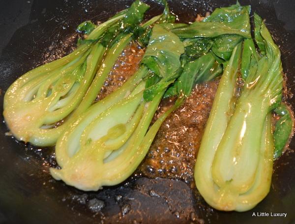 pak choi with tuna amazing together