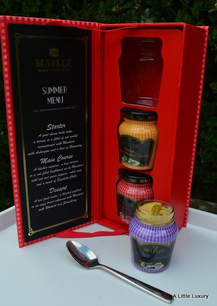 maille mustard summer menu