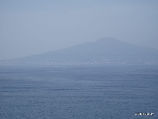 view of vesuvias from Sorrento