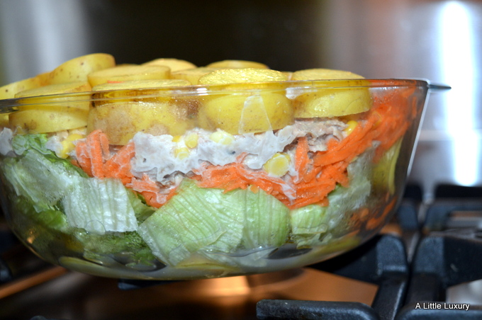 layered potato salad
