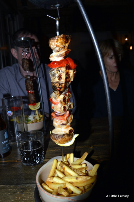 chicken hanging kebab