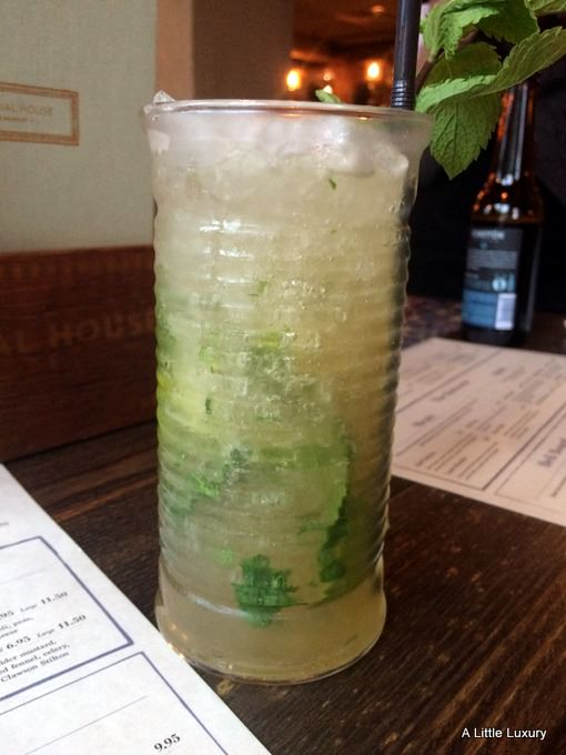 mohito with dark rum