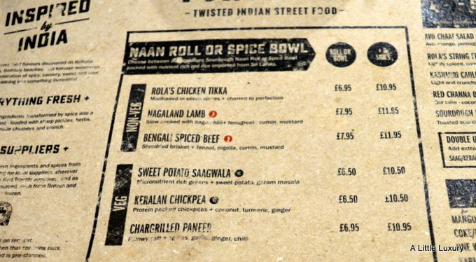 menu rola wala indian street food