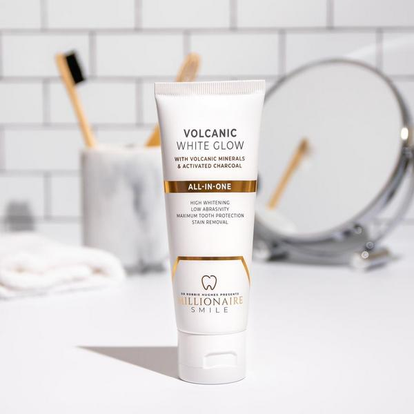Volcanic White Glow Toothpaste gentle tooth whitening