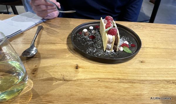Raspberry & Dark Chocolate Millefeuille